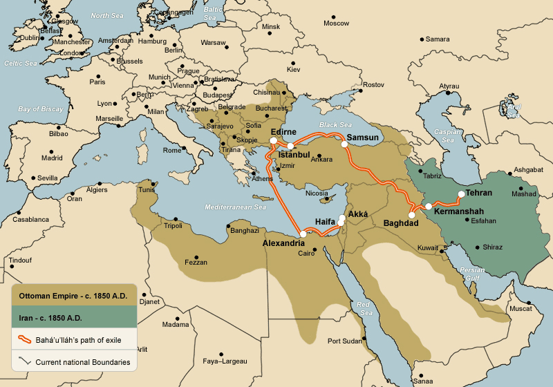 The Story of Bahaullah Maps on